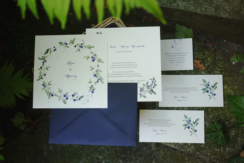 zaproszenia ślubne jagoda