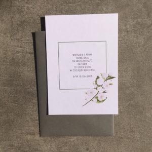 zaproszenie ślubne akwarele jaśmin