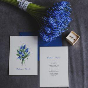 zaproszenia ślubne szafirki