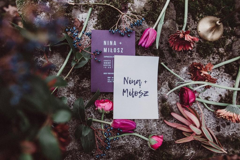 zaproszenia rock your wedding paperwords