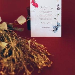 Zaproszenia ślubne polne kwiaty Paperwords
