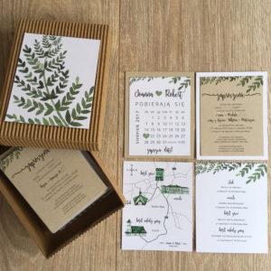 zaproszenie ślubne w pudełku