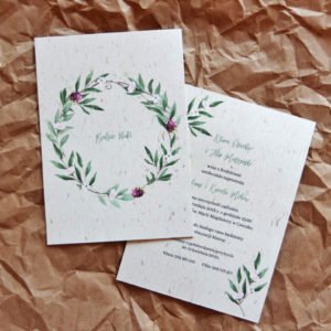 zaproszenia ślubne eukaliptus owoce leśne jeżyna las paperwords