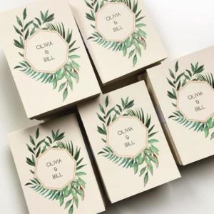Eukaliptus i gałązka oliwna zaproszenia ślubne akwarele Gdynia Paperwords