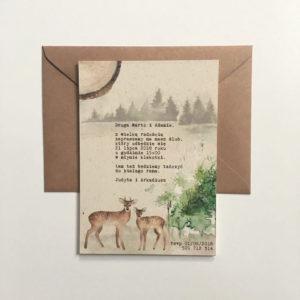 leśne zaproszenia ślubne sarenki gdynia paperwords