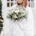 bukiet na ślub zimą