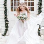 sukienka na ślub zimowy jedwabna suknia ślubna