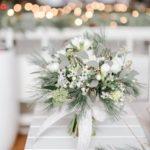 bukiet kwiaty na ślub zimą zimowy ślub