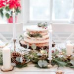 dekoracje zimowego ślubu papeteria akwarelowa