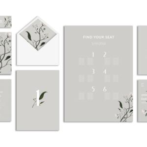 minimalistyczne zaproszenia ślubne gdynia - delikatne kwiaty
