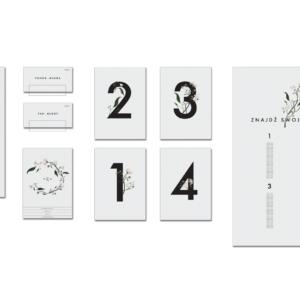 Delikatne kwiatowe minimalistyczne zaproszenia ślubne Paperwords