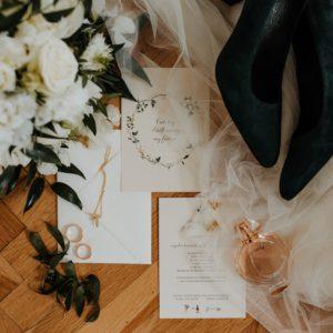 Zaproszenia ślubne Wiosna akwarelowa papeteria na ślub Paperwords