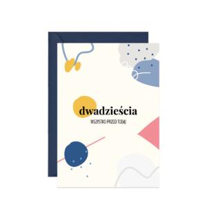 kartka z życzeniami na 20 urodziny lub rocznicę