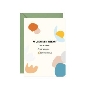 kartka z życzeniami na urodziny lub rocznicę