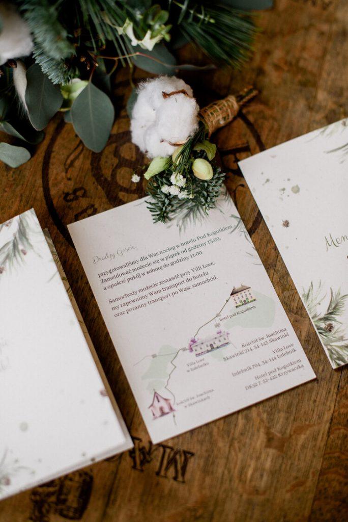Mapa weselna do zaproszenia