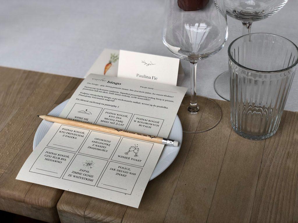 Weselne bingo atrakcja weselna