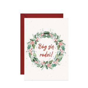 świąteczna kartka z życzeniami Bóg się rodzi