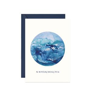 kartka z życzeniami na ślub z morzem na wspólną drogężycia