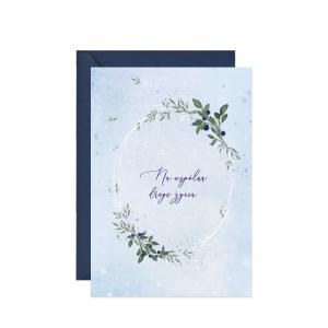 kartka z życzeniami na ślub z niebieskąjagodą
