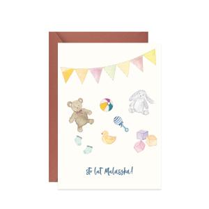 kartka z życzeniami dla dziecka na urodziny sto lat maluszku