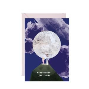 kartka walentynka wszechświat jest nasz
