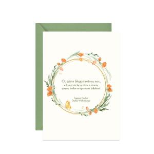 kartka z życzeniami wielkanocnymi O zaiste błogosławiona noc