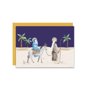 kartka świąteczna na Boże Narodzenie ze Świętą Rodziną